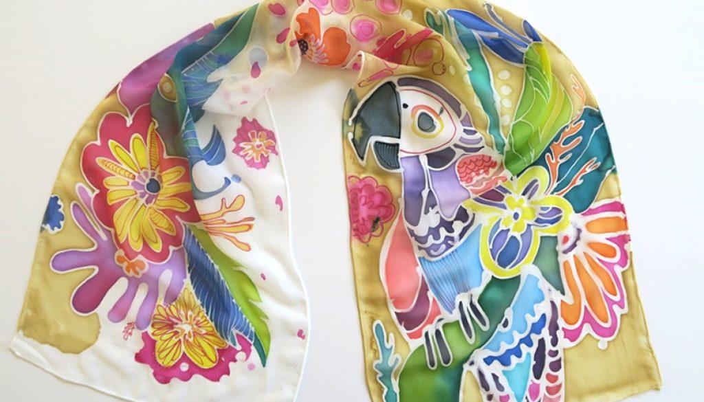 Рисуване на коприна Tropic life
